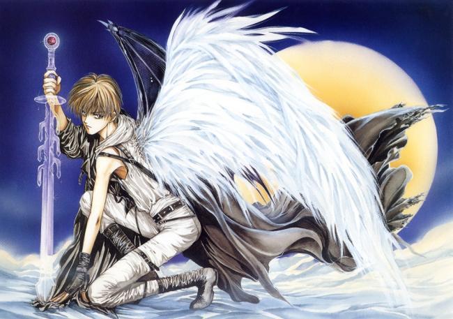Mały Anioł Z Mieczem Anioły Mężczyźni