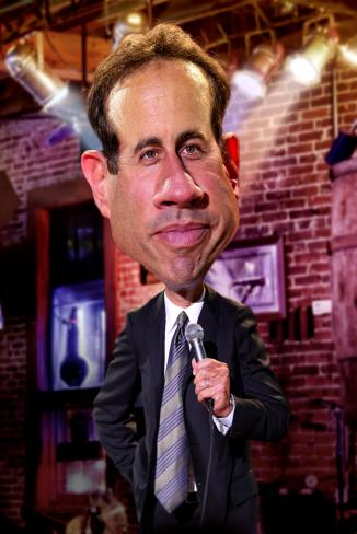 Karykatura Jerry Seinfeld by Rodney Pike - karykatura_jerry_seinfeld_by_rodney_pike